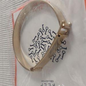 KEEP Collective Bangle Charm Bracelet Brushed Finish Gold Tone